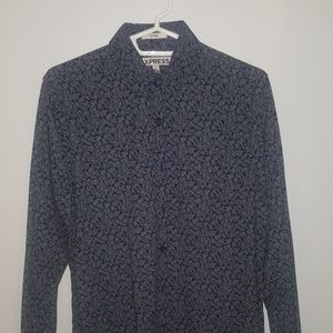 Express Flower Pattern Button Up